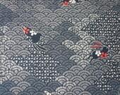 Tissu japonais lapins sur motif seigahia  - 50 cm