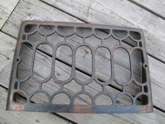 vintage crown wall vent cover cast iron antique wall