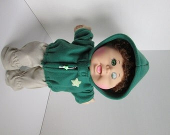 """14"""" Boy Baby Cabbage Patch Green Hooded Jacket"""