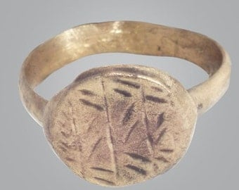Ancient Byzantine Mens Ring C.600-900A.D. Size 8 1/4  (17.7mm)(brr121)