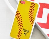 Softball iPhone Case - Monogrammed Softball iPhone Case - iPhone 4 Case - iPhone 5 Case - iPhone 5s Case