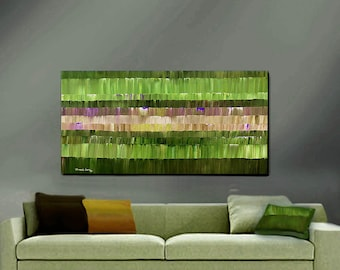 ORIGINAL PAINTING Abstract Large Impasto 24X48 Gallery Wrap Canvas  By Thomas John