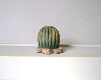 Miniature ceramic cactus