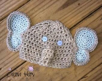 Crochet Elephant hat  Boy or Girl