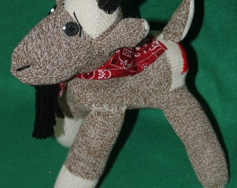 Handcrafted Sock Monkey Goat