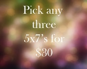 Pick any 3 5x7 Photographs for 30 dollars - Fine Art Photography