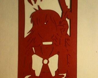Papercut Bookmark Sailor Mars
