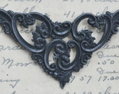 Large pierced decorative brass corner, Black Satin Finish