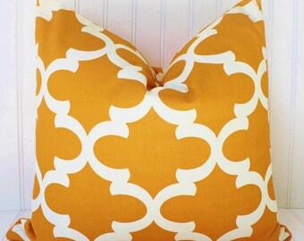 Orange Pillow-Decorative Pillow-Throw Pillow-Orange White Pillow-Cushion Cover