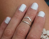 Sterling silver knuckle ring, stacking rings - midi rings, mid finger ring, knuckle ring set, silver rings