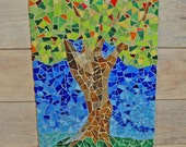 Celebrate - Mosaic Tree, Stain Glass, Multi-Color With Display Stand, Home Decor
