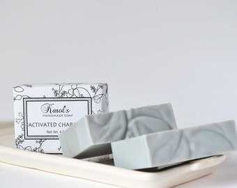 Activated Charcoal Unscented Handmade Soap ~ All Natural Soap, Handmade Soap, Facial Soap