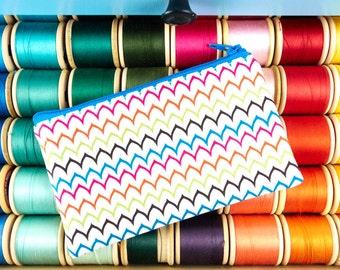 Colourful Geometric Zipper Pouch Coin Purse