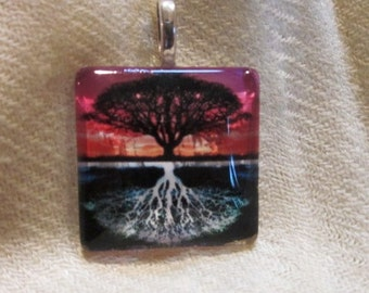 Tree of Life Reflection Pendant/Scarf Ring