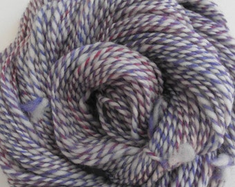 "Handspun Yarn ""Berry Parfait"" Two Ply Merino Wool/Wool"