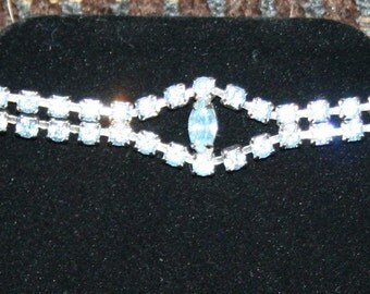 Rhinestone Bracelet Baby Blue Color