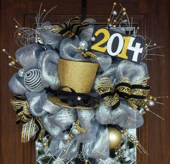Deco Mesh Happy New Year S Wreath