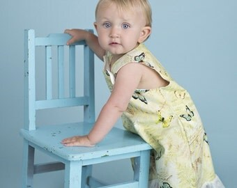 Toddlers spring summer cotton dress with butterflies and flowers print for  flower girls,birthday,everyday wear