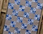 Modern Baby Boy Quilt, designer fabrics, patchwork toddler blanket, baby shower gift