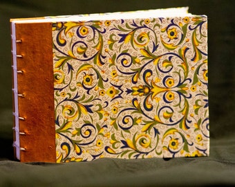 Florentine Print Book - Reporter-Style Journal with Orange