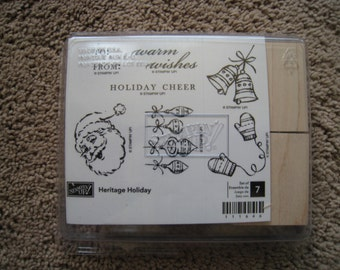 Stampin Up Stamp Set - Heritage Holiday - New - Retired - Rare
