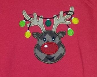 Children's reindeer Christmas shirt