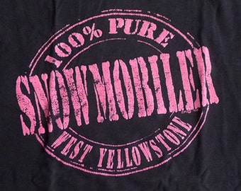 Vintage 1989 100% Pure Mobiler West Yellowstone T-Shirt