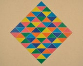 Bright and Colorful Triangles Screenprint