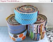 ON SALE de-stash scrappy jelly roll - 40 @ 2.5''xWOF strips - Moda, Birch, Lecien, FreeSpirit, modern and traditional mix