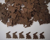 Easter Bunny Rabbit Paper Confetti - 200 Pieces - Brown or Your Choice Of Colors