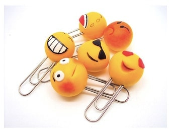 Smiley  Paperclips in Polymer clay