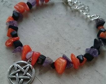 Pentacle Samhain Halloween Bracelet