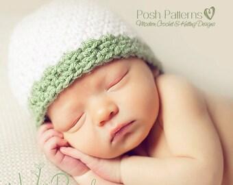 Crochet PATTERN - Textured Beanie Crochet Hat Pattern - PDF 321 - Includes 6 Sizes Newborn To Adult - Photo Prop Pattern