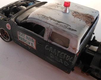 Classicwrecks, Scale Model ,Rat Rod Truck, Black Pickup,Chevy truck