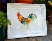 """A4 Giclee Print: Chickens Series """"Welsummer Rooster"""" (Watercolour painting)"""