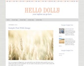 Premade Blogger Template - Hello Dolly Premade Blog Design - Instant Download