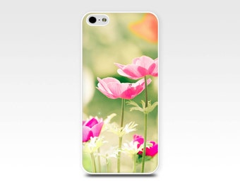 flowers iphone case 6s iphone 6 case poppies iphone 5s case iphone 4s case floral iphone case 4 pink pastel lemon iphone case mint spring