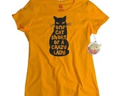 Cat shirt One Cat Short Of A Crazy Lady - Gift for Her - Tshirt for Women Crazy Cat Lady Cat t shirt - Mom Gifts