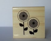 Retro Garden Wooden Mounted Rubber Stamping Block DIY cards, scrapbooking, tags, Greeting Cards, and Scrapbooking