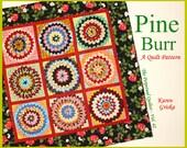 "Pine Burr Quilt Pattern, Fabulous Texture, Wall Quilt, Alabama State Quilt, 52"" x 52"" Folded Fabric Quilt, qtm"