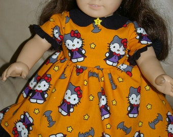 Hello Kitty Vampire dress for 18 inch doll
