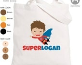 Halloween Trick or Treat Bag - Personalized Superhero Tote Bag - Perfect for a Big Brother Kit