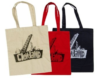 Cleveland Bridges Totes (Red, Natural, or Navy)