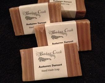 Autumn Sunset Shea Butter soap
