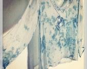 Sheer Rayon Tie-Die Tunic