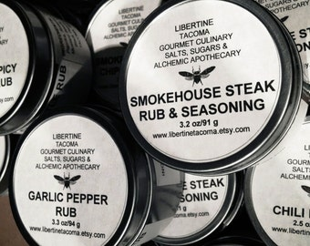 Rubs & Seasonings in 4 oz Tin