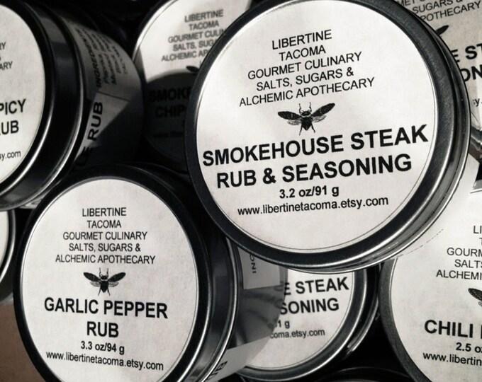 Rubs & Seasonings in 4 oz Tin