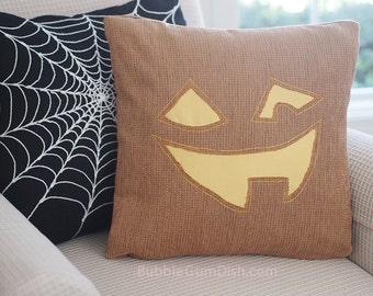 Jack o Lantern Faces - JACKIE  - Jack o Lantern - Pillow Cover 18x18