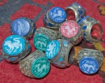 Wholesale Lot of 10 Vintage Kuchi Carved Large Rings Gypsy Tribal Uber Kuchi®