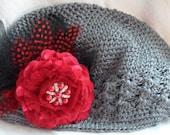 Twilight Roses Crochet Hat